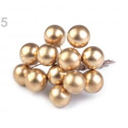 Bouquet de 12 perles ivoires sur tige métal