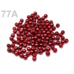 Perles nacre verre 4 mm