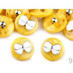 10 boutons marbrés avec noeud
