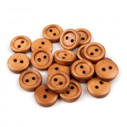 20 boutons bois 12 mm
