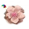 Grosse fleur tissu broche ou cheveux