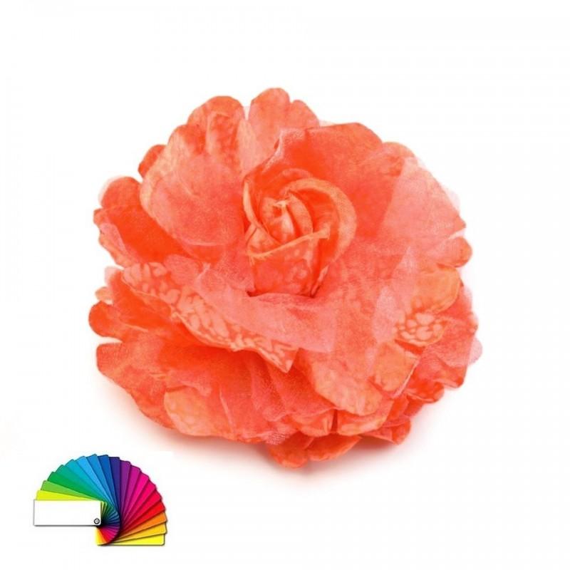 Fleur broche ou cheveux 8 cm