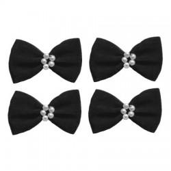 4 noeuds satin et perles