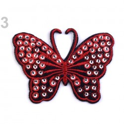 Appliqué thermocollant papillon sequins 8 cm