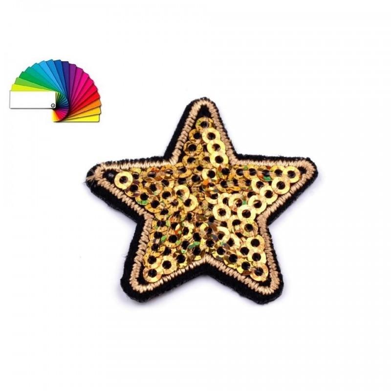 4 étoiles sequins thermocollantes 3 cm