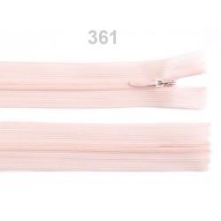 Fermeture éclair nylon invisible 50 cm fermée