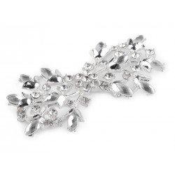 Fermeture agrafe strass cristal