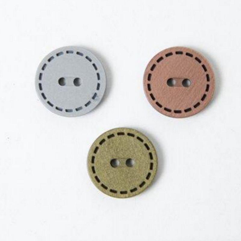 6 boutons surpiqures 15 mm