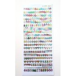 Sticker alphabet chiffres lettres 8 mm