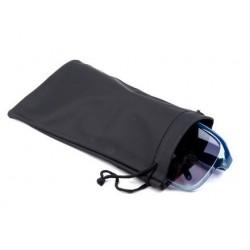 Etui a lunettes a customiser, pochette, rangement, noir, 9 x 18 cm