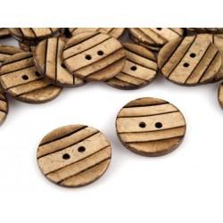 5 boutons 23 mm noix de coco