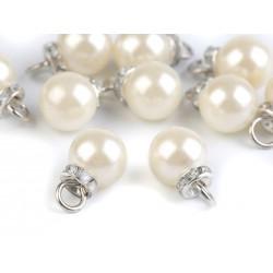 2 charms perles et cristal