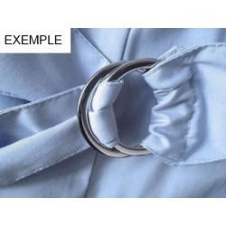 2 boucles D 30 mm plates ceinture