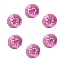 6 boutons couleur et strass