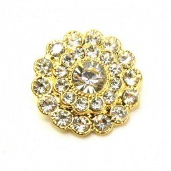 Bouton cristal diamant