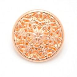 5 Boutons métal or rose
