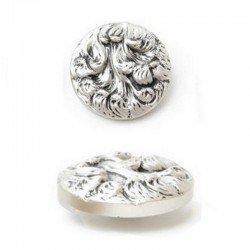 Gros bouton 38 mm métal or ou argent