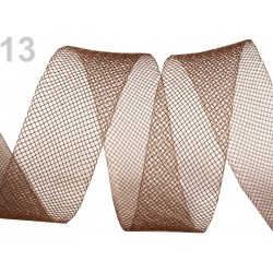 Ruban résille crinoline 25 mm