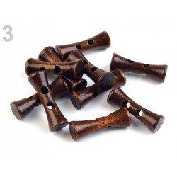5 boutons Toggle en bois 35 mm