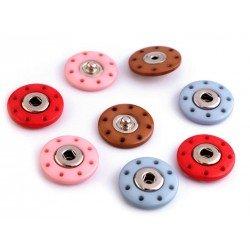 5 boutons pressions couleurs 20 mm à coudre