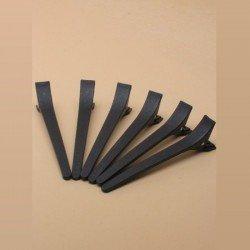 6 longues épingles cheveux noires 12 cm