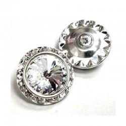 Bouton bijou en cristal, or ou argent, 12 ou 16 mm