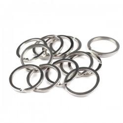 2 anneaux ouverts 30 mm metal argent