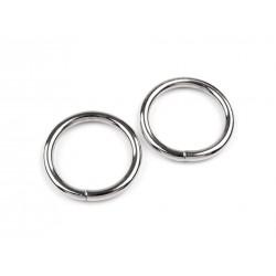 10 anneaux ouverts 20 mm metal argent