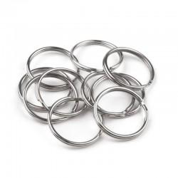 10 anneaux ouverts 24 mm metal
