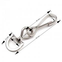 Mousqueton boucle arrondie 53  mm