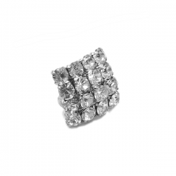 Bouton strass diamant carre 23 mm