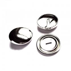 5 boutons 11 mm  a recouvrir en metal argent decoration