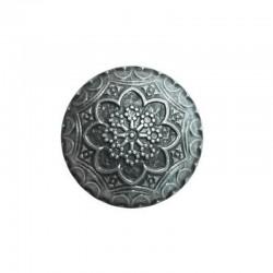 5  boutons métal bombés 15 mm