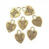 10 charms pendentifs Hand made with love