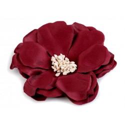 Grosse fleur satin 75 mm